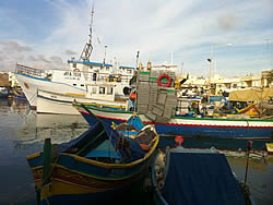 Fishing boats in Marsaxlokk habour (MALTA fisheries sector SWOT, 2012)